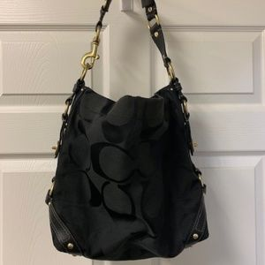 AUTHENTIC COACH BLACK LARGE CARLY BAG